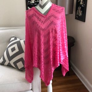 🎉Ralph Lauren Pink Cable Knit Poncho